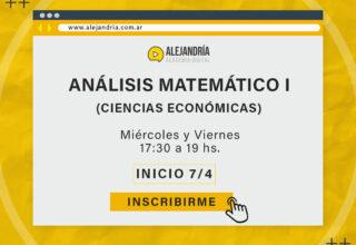 Curso de Análisis Matemático I